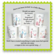 Baby Shower Mugs Gifts for Mum to Be-can be personalised