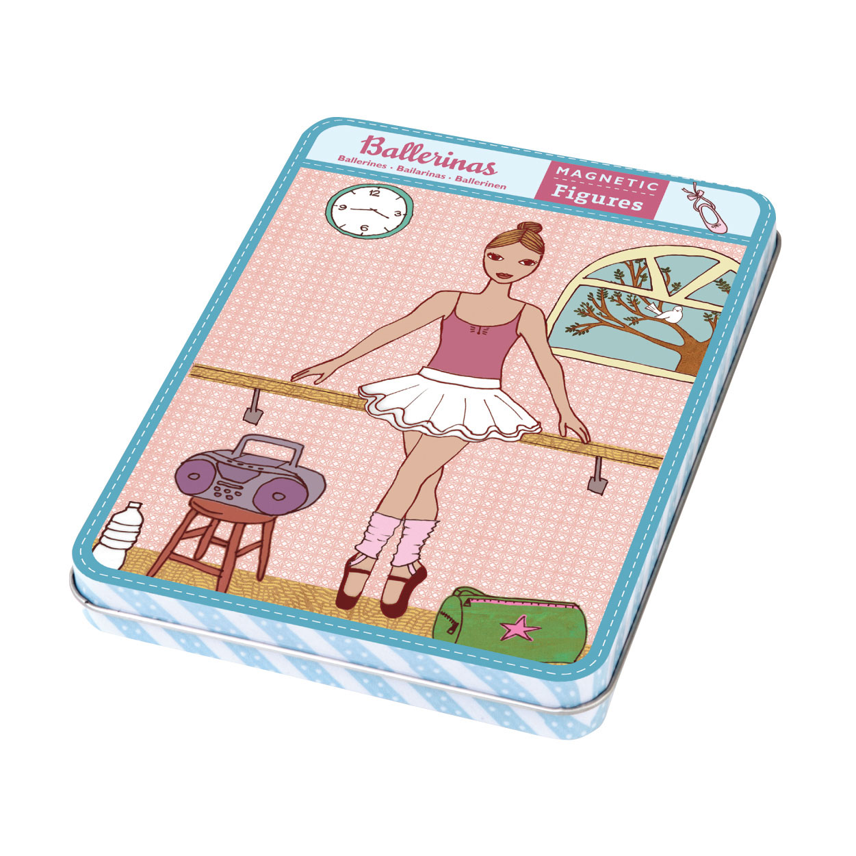 Mudpuppy -- Magnetic Design Play set -- Ballerinas