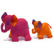 Small & Large Cuddly Elephants by Barefoot