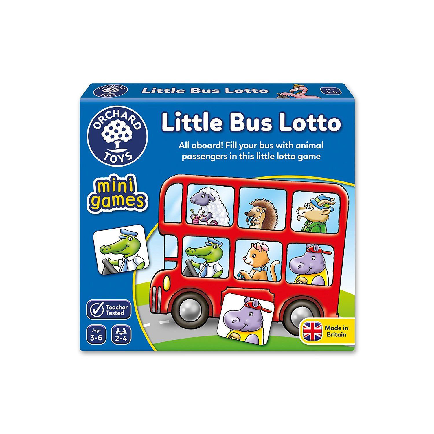 Little Bus Lotto ~ Mini Game by Orchard Toys