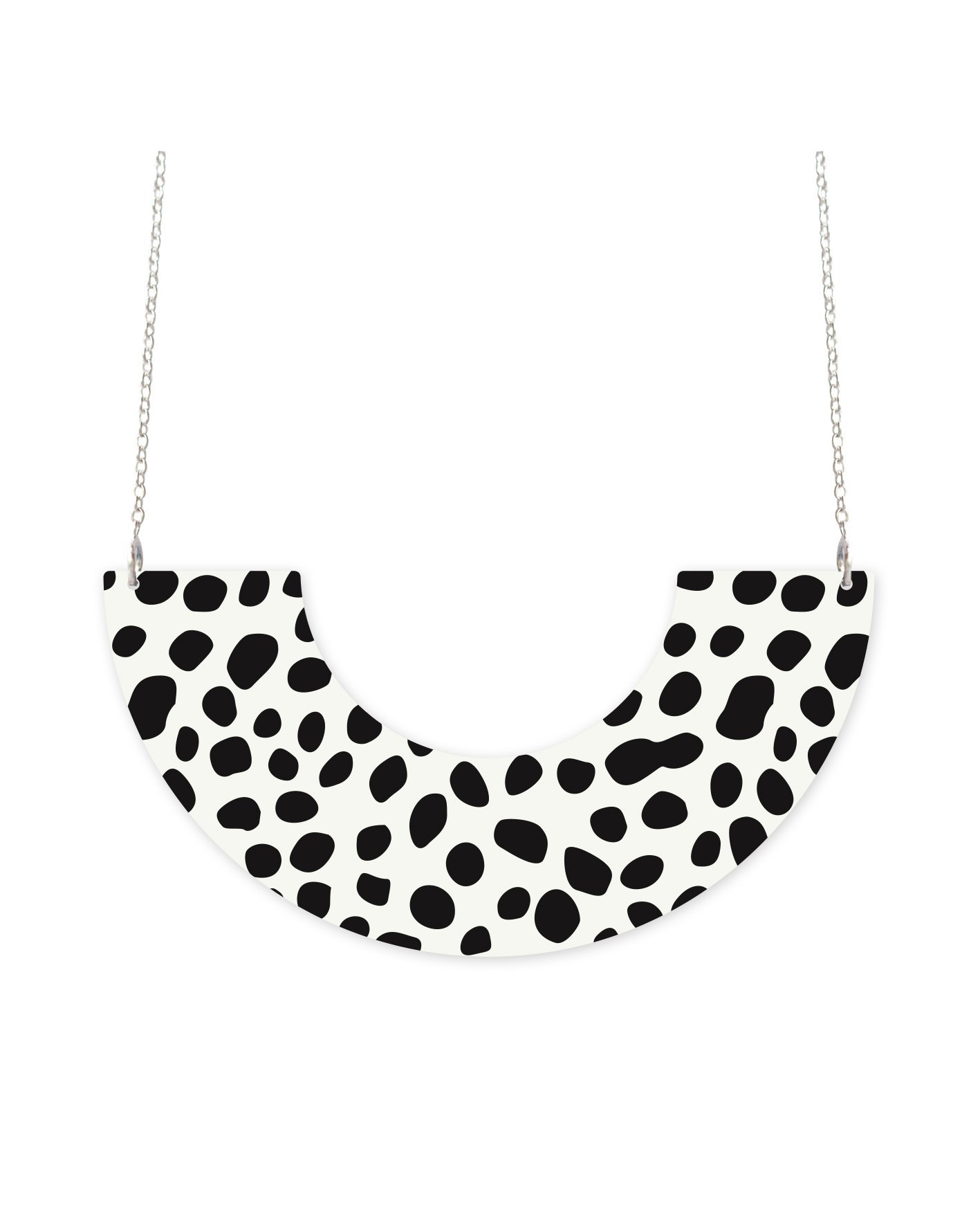 MOE MOE White Animal Centred U-Shape Necklace