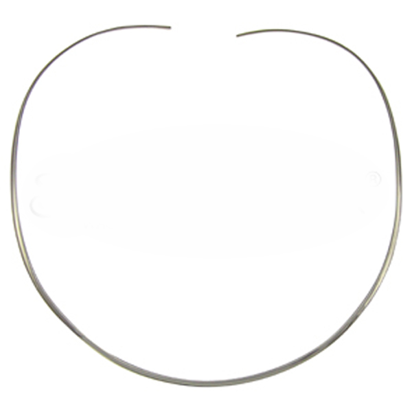 Sterling Silver Oval Choker 2mm