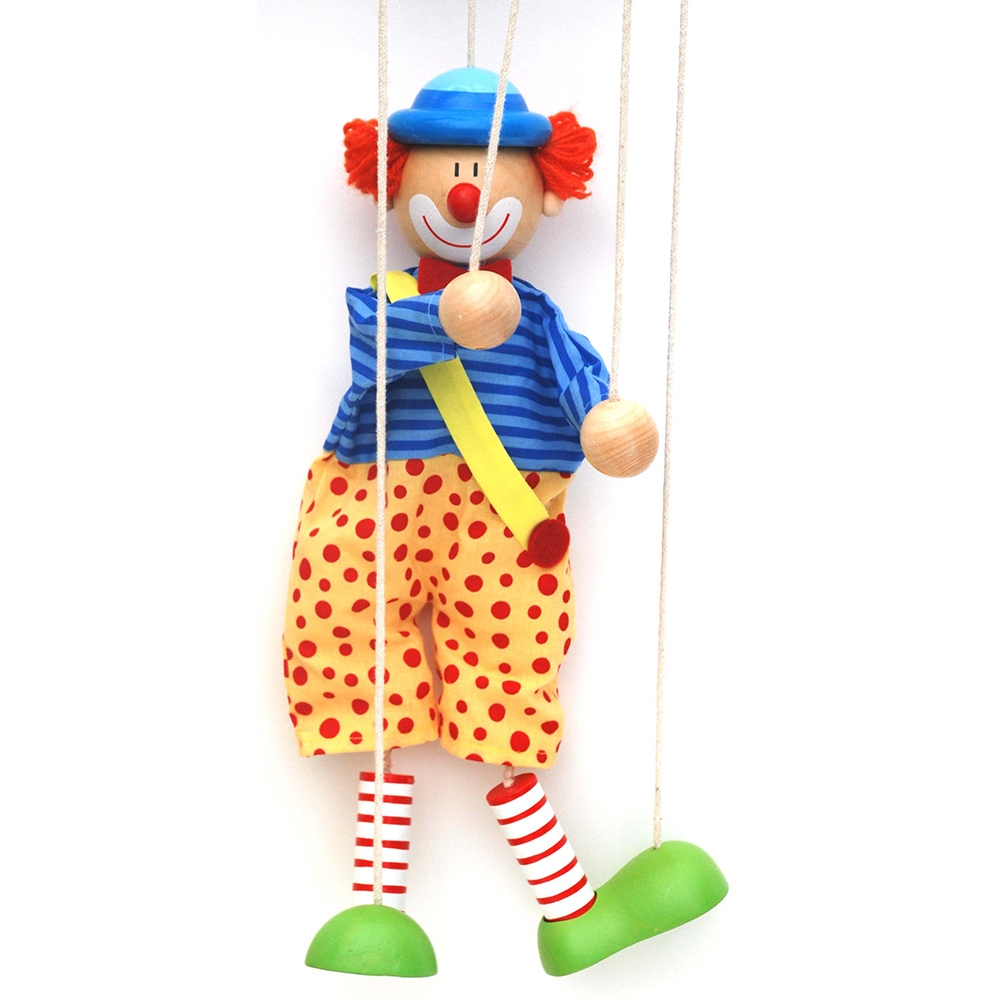 Clown String puppet ~ Marionette ~ puppetry ~ pretend play