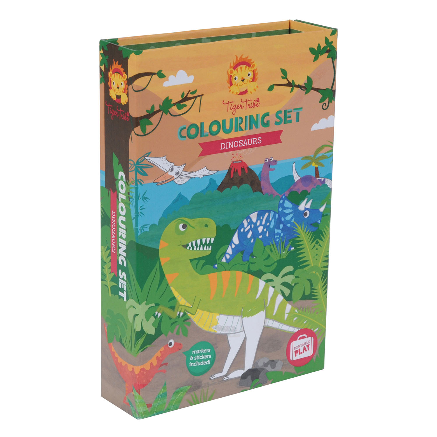 Colouring set - Dinosaurs by Tiger Tribe