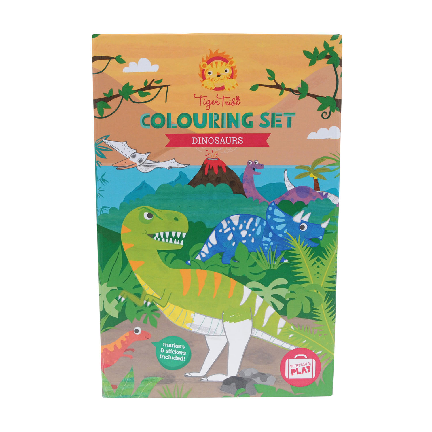 Colouring set - Dinosaur by Tiger Tribe