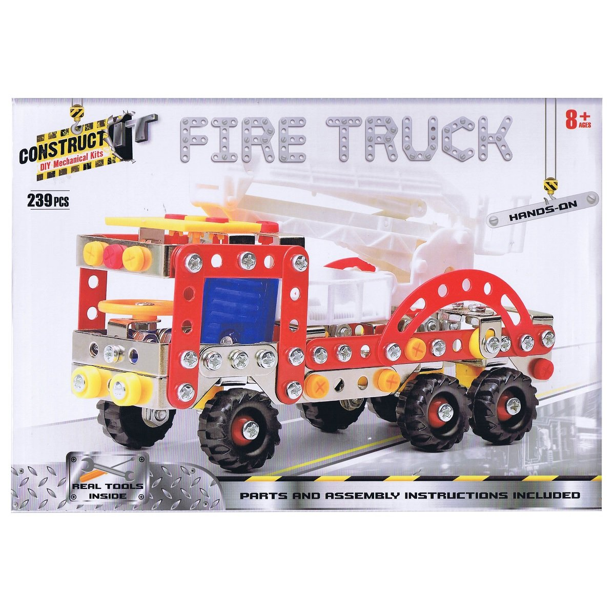 Construct-It Fire Truck 239 Piece Kit ~ DIY Mechanical Kit