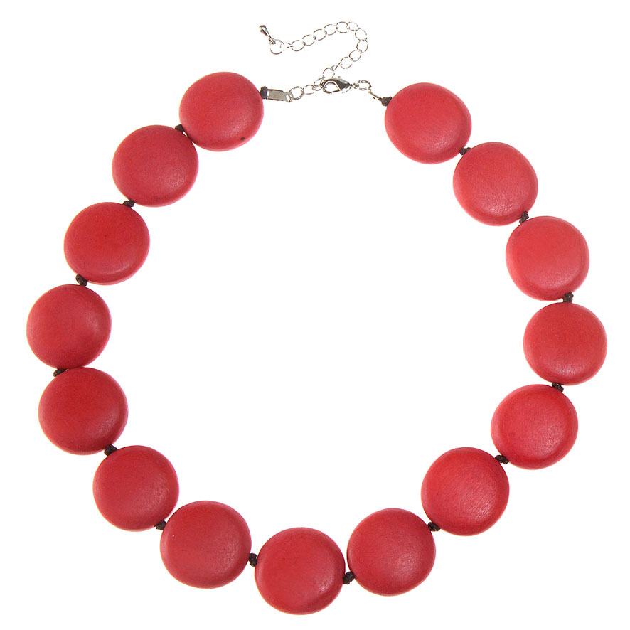 Red Lucy Short Necklace by Cool Coconut