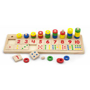 Wooden Count & Match Numbers Maths Activity by Viga Toys