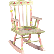 Rocking chair from the crackle collection by Teamson