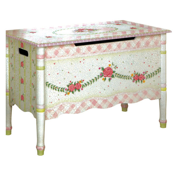 Crackled Rose Toy Chest by Fantasy Fields Teamson - Toy Box