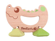 Eco Friendly Crocodile Grasper ~ teether ~ sound maker by Everearth
