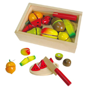 Wooden Fruit Cutting Velcro-ed Set by Fun Factory