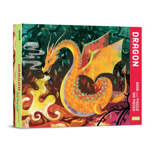 Sassi Book and Puzzle - Dragon 100 pcs 5+
