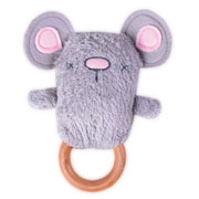 Moe Mouse Dingaring ~ Teething ring & Rattle ~ O.B.Designs Australia 0+