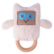 Emma Owl Dingaring ~ Teething ring & Rattle ~ O.B.Designs Australia 0+