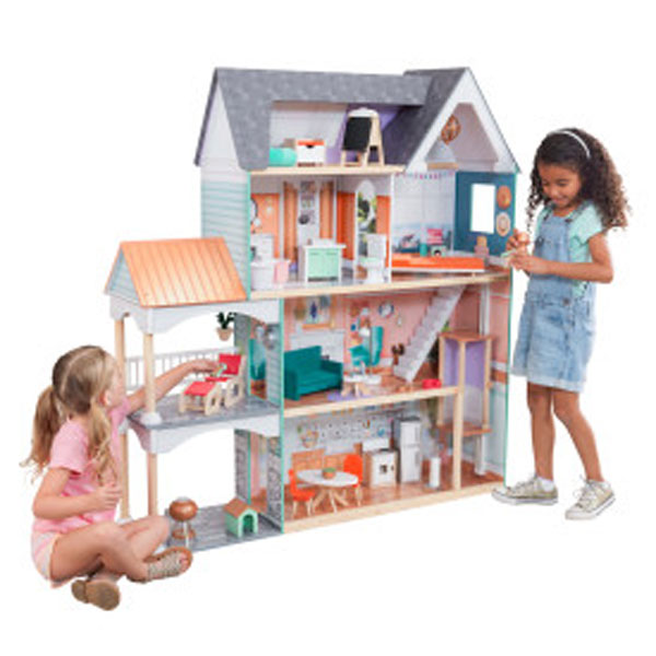 Dahlia Mansion Dollhouse with EZ Kraft Assembly by Kidkraft