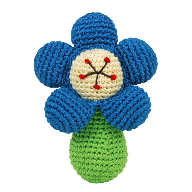 Dandelion Handcrafted Pudgy flower rattle