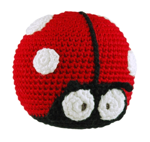 Dandelion handcrafted roly poly ladybug rattle