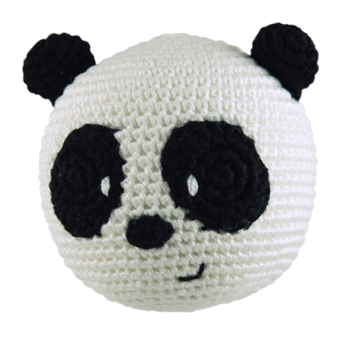 Dandelion handcrafted rolypoly panda rattle