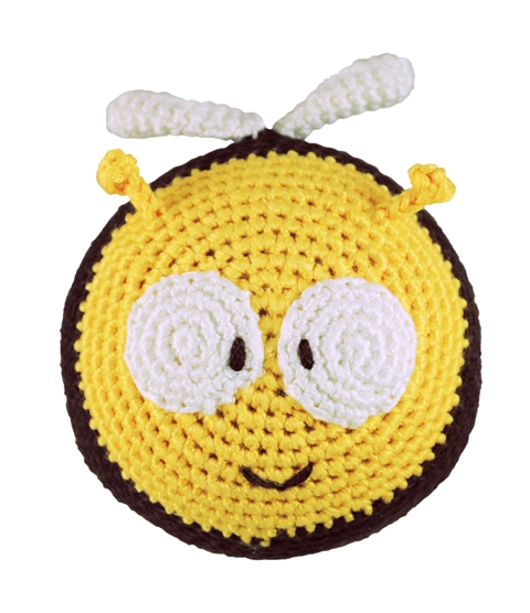 Dandelion handcrafted roly poly bee rattle