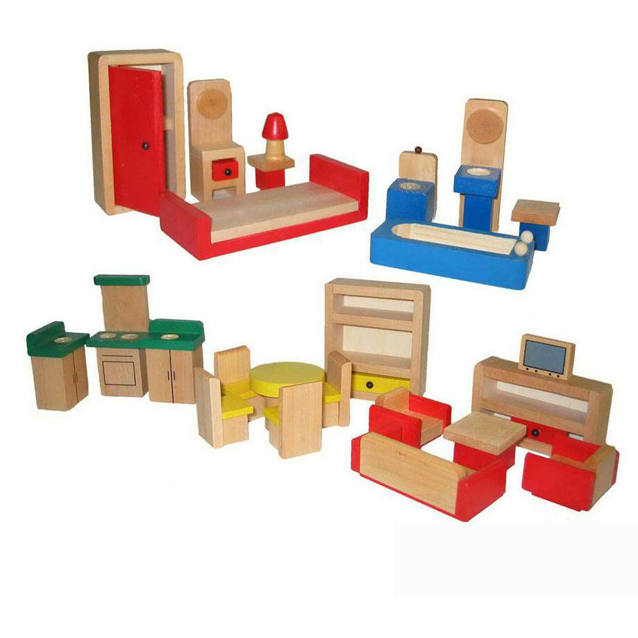 Wooden Dollhouse Furniture Package by Fun Factory