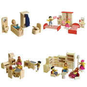 Wooden furniture for Doll House - Package No 2 by Timbertop Toys