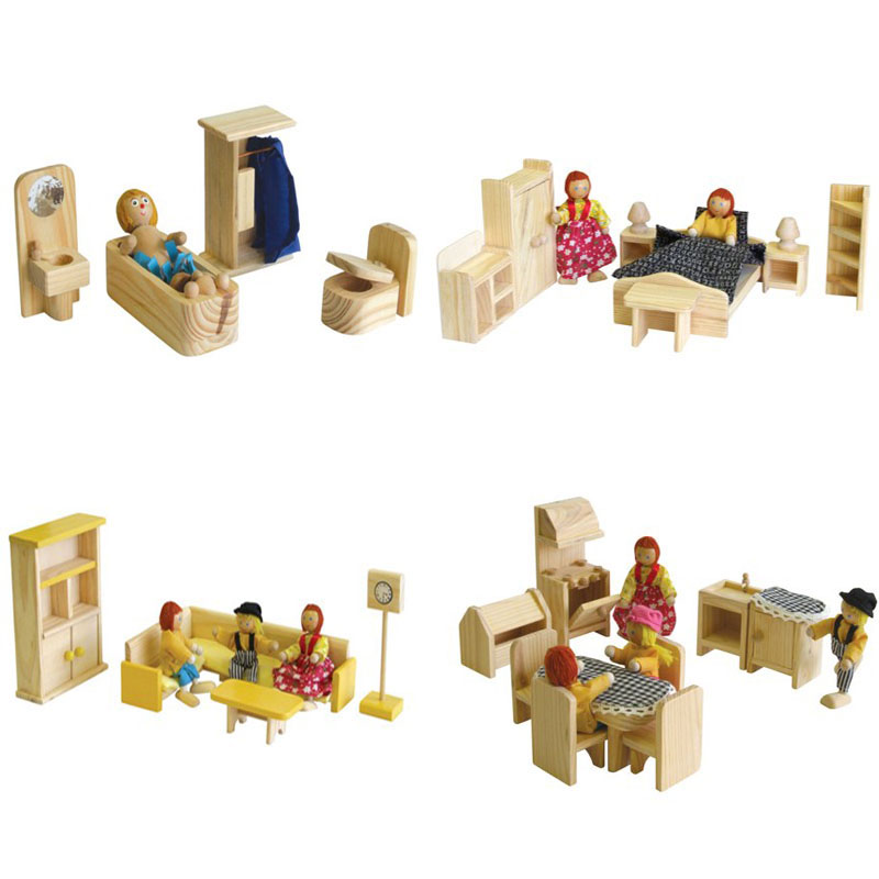 Pine Furniture Packages for doll house (suitable for 3 yrs+)