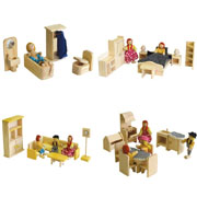 Wooden Doll house furniture - package No 6
