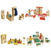 Wooden Doll house furniture - Package No 8