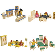Wooden Doll House furniture - Package No 9
