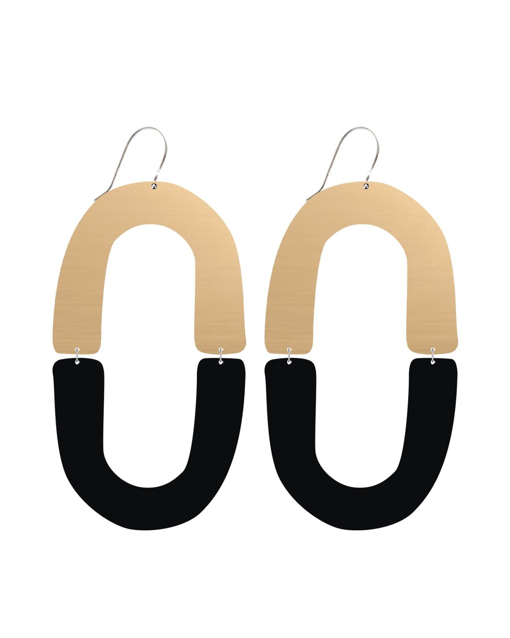 MOE MOE Signature Double Arch Drop Earrings