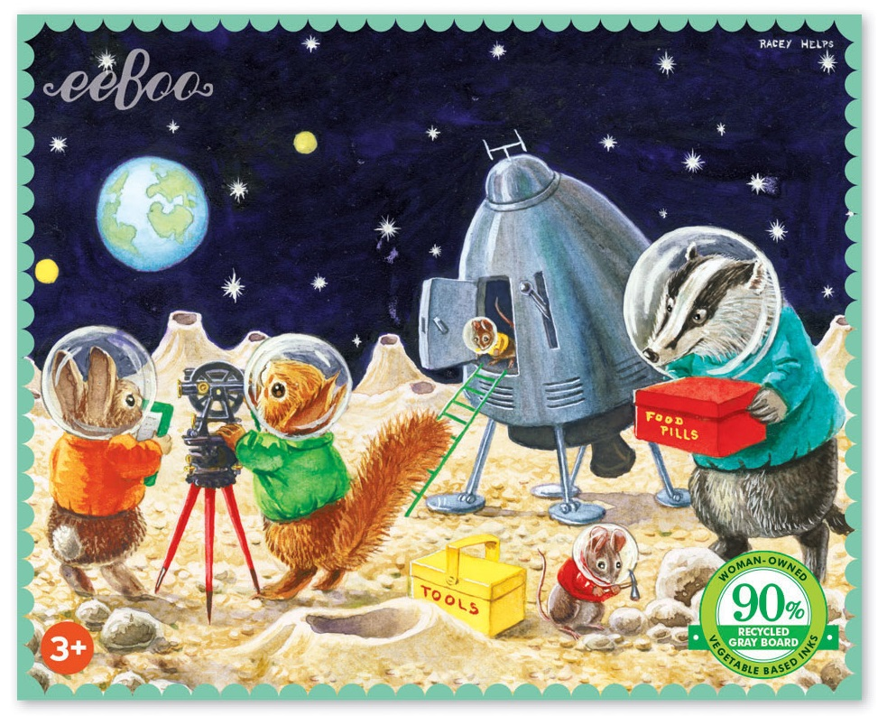 eeboo Min On the Moon 63 pc Puzzle