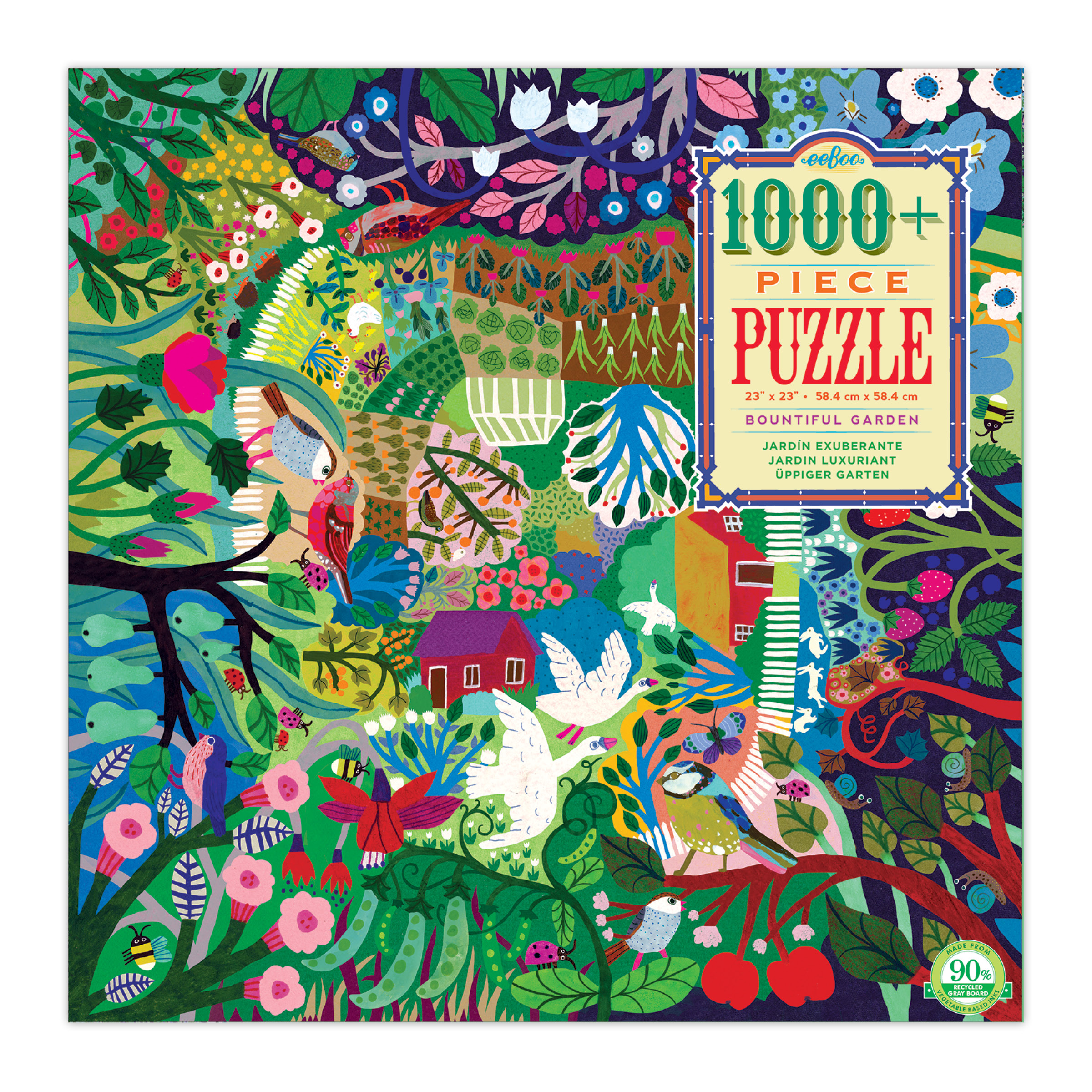 Bountiful Garden 1000 Piece Jigsaw Puzzle by eeBoo