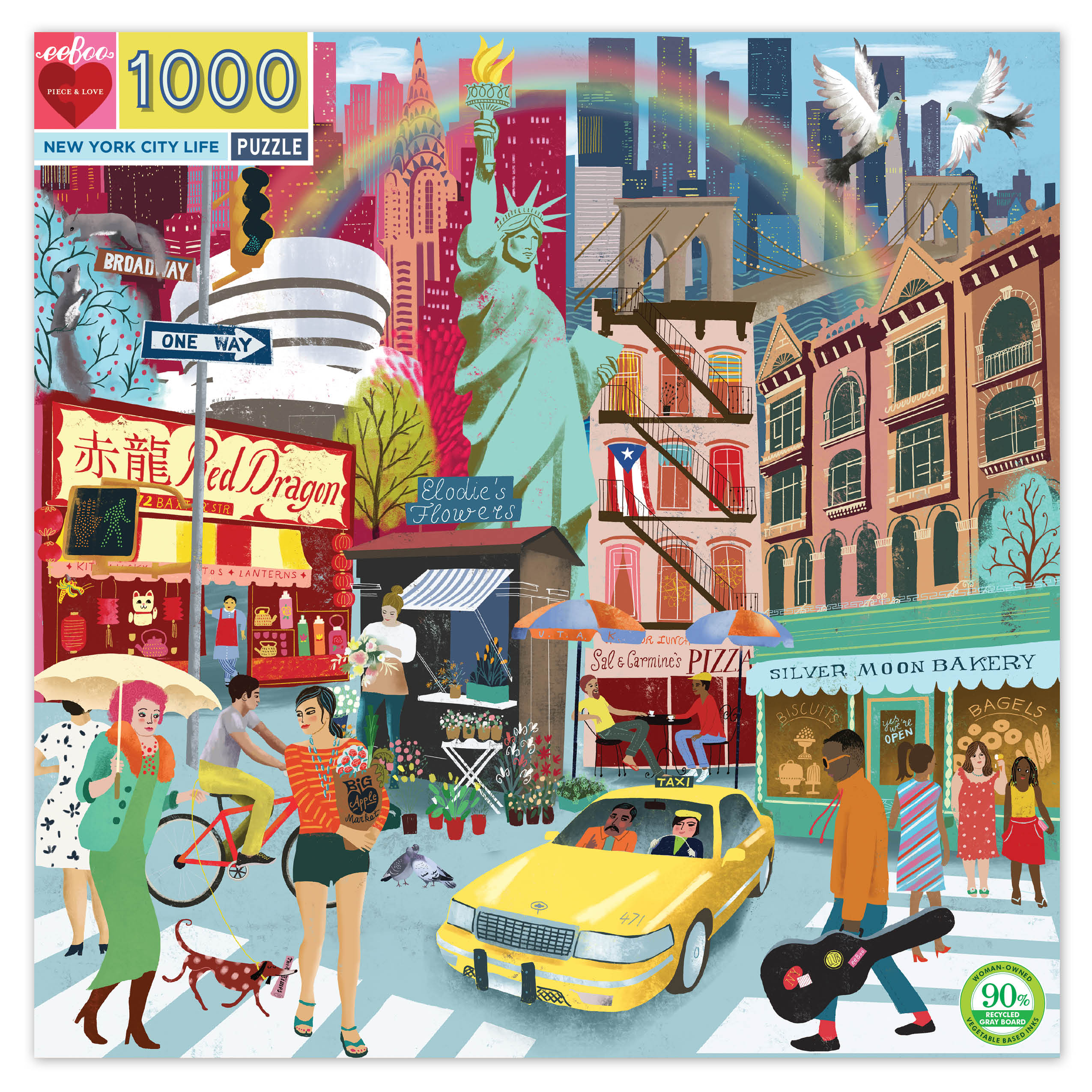 New York City Life 1000 Piece Jigsaw Puzzle by eeBoo