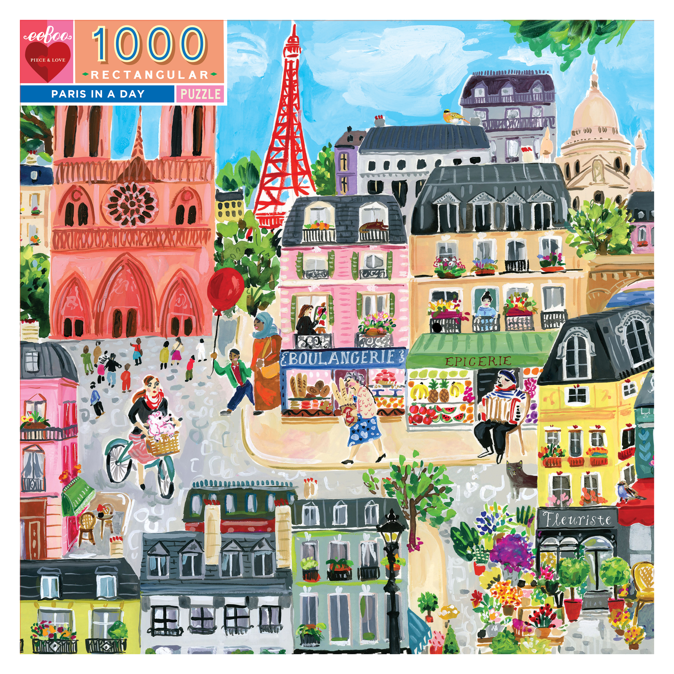 Paris in a day 1000 Piece Jigsaw Puzzle by eeboo