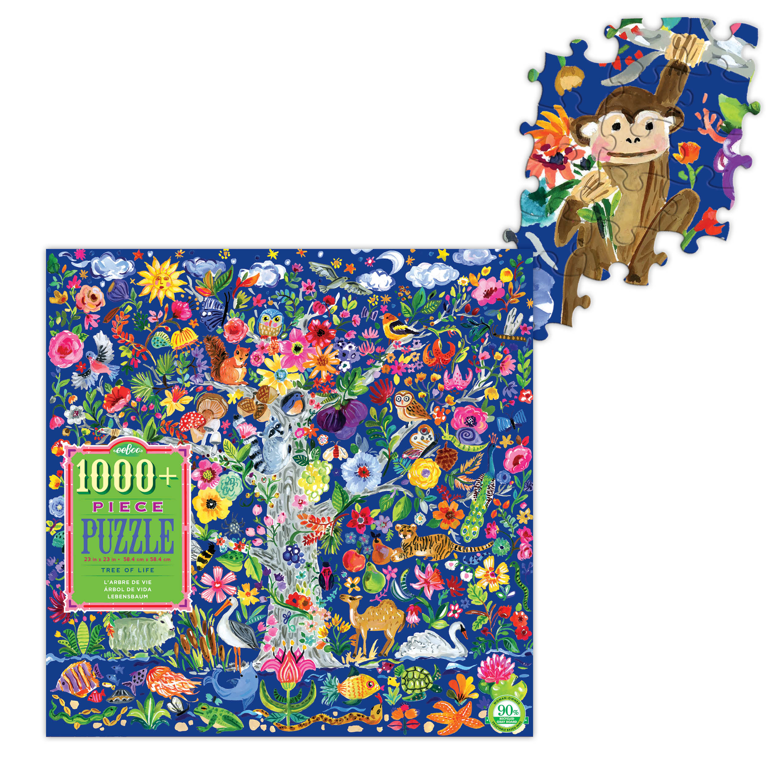 Tree of Life 1000 Piece Jigsaw Puzzle by eeboo