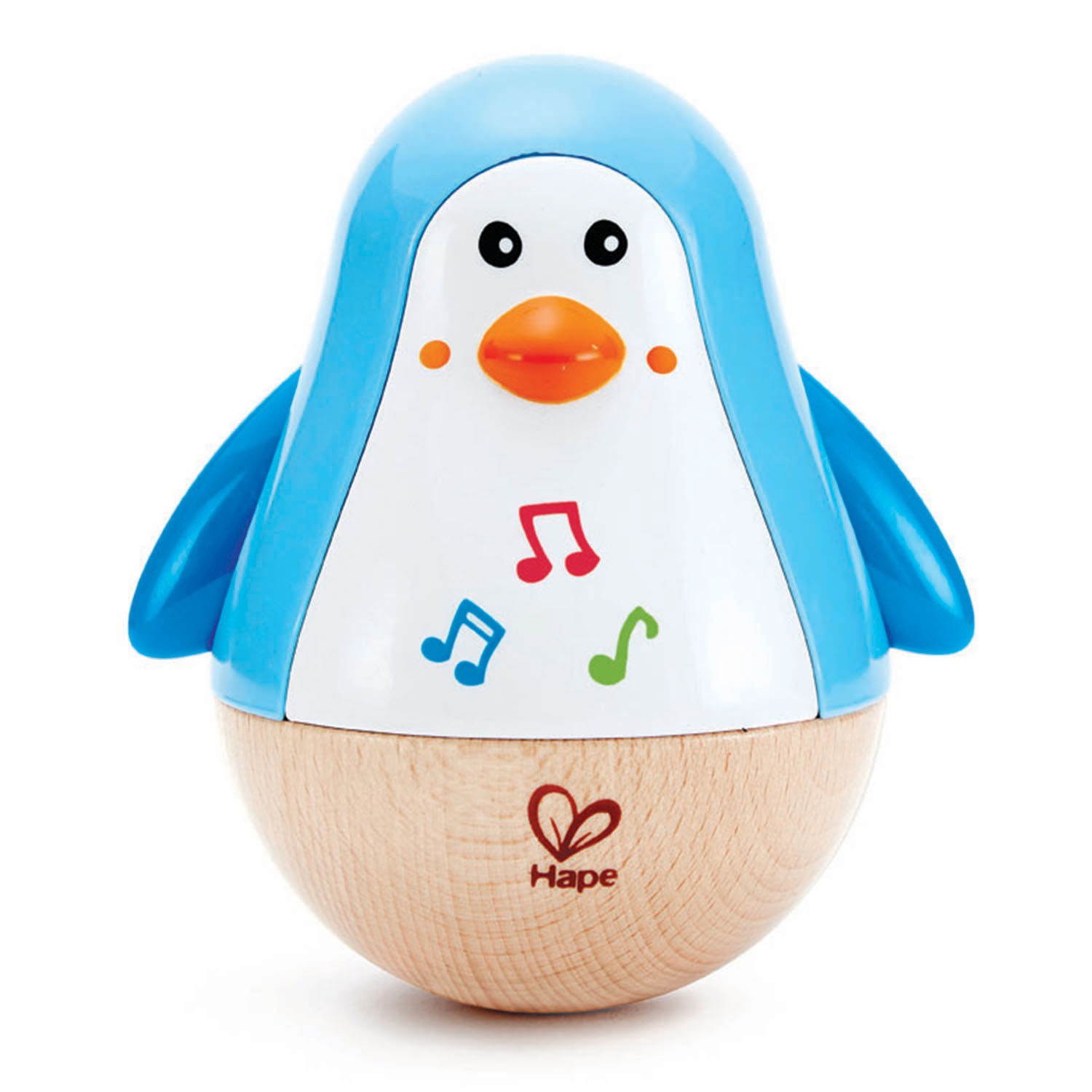 Hape Penguin Music Wobbler ~ 6+ mths
