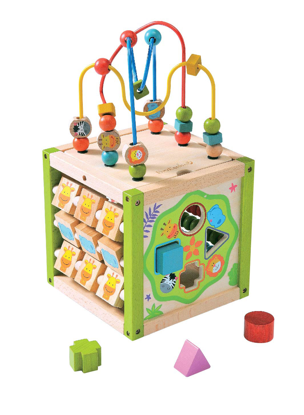 My First Multi-Play Wooden Activity Cube by EverEarth ~ Eco friendly
