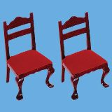 MINIATURE MAHAGONY  DINING CHAIRS--COLLECTORS ITEM
