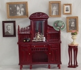 MINIATURE MAHAGONY ANTIQUE SIDEBOARD--COLLECTORS ITEM