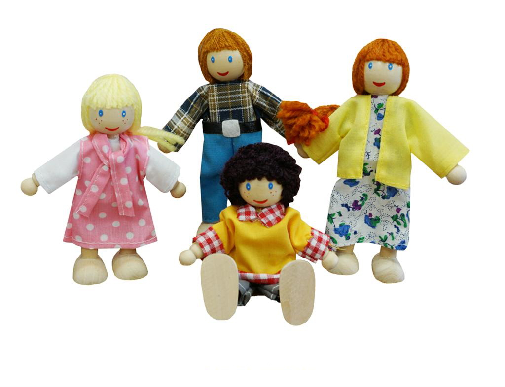 Wooden Dolls Family x 4 by Fun Factory Toys