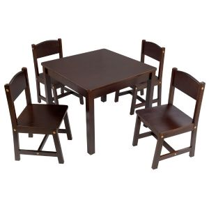 Kidkraft Farmhouse Table & 4 Chair set Espresso