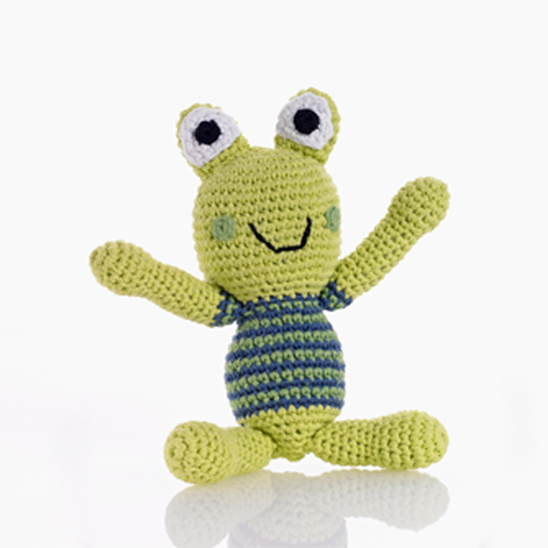 Frog Boy Rattle by Pebble