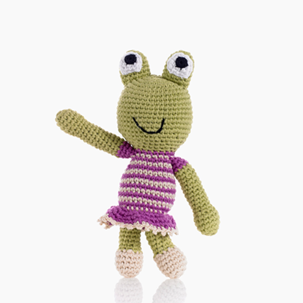 Frog Girl Rattle by Pebble