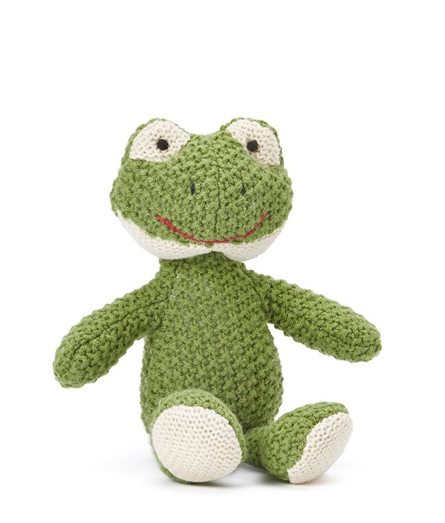 FINNY THE FROG Baby Rattle by NANA HUCHY