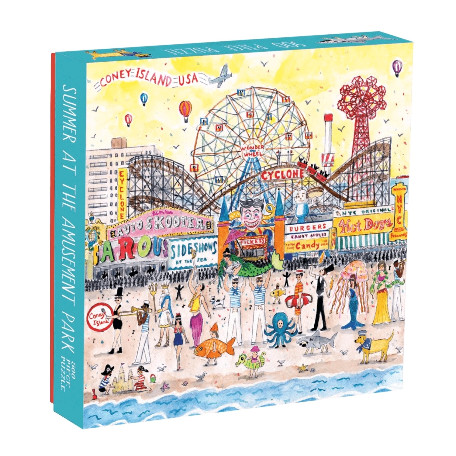 Michael Storrings Summer at the amusement Park 500 Piece Puzzle by Galison
