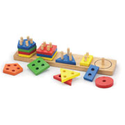 Wooden Geometric Shape Sorter Activity by Viga Toys