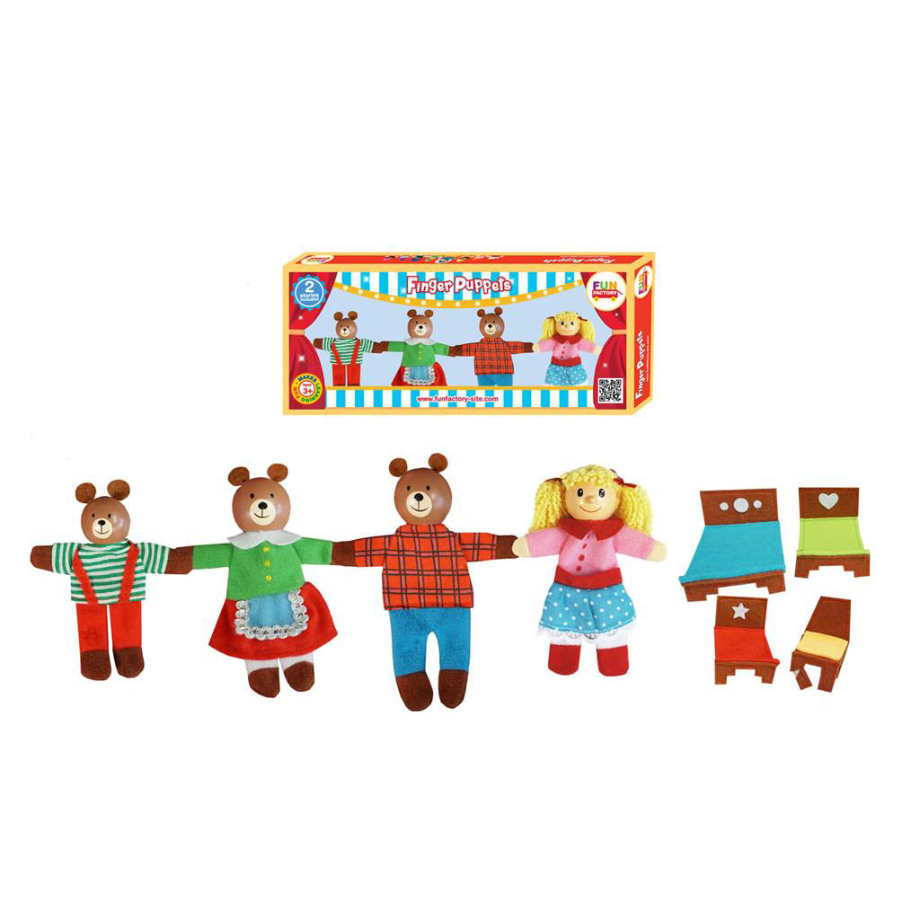 Finger puppets - Goldilocks & the 3 Bears ~ Fun Factory