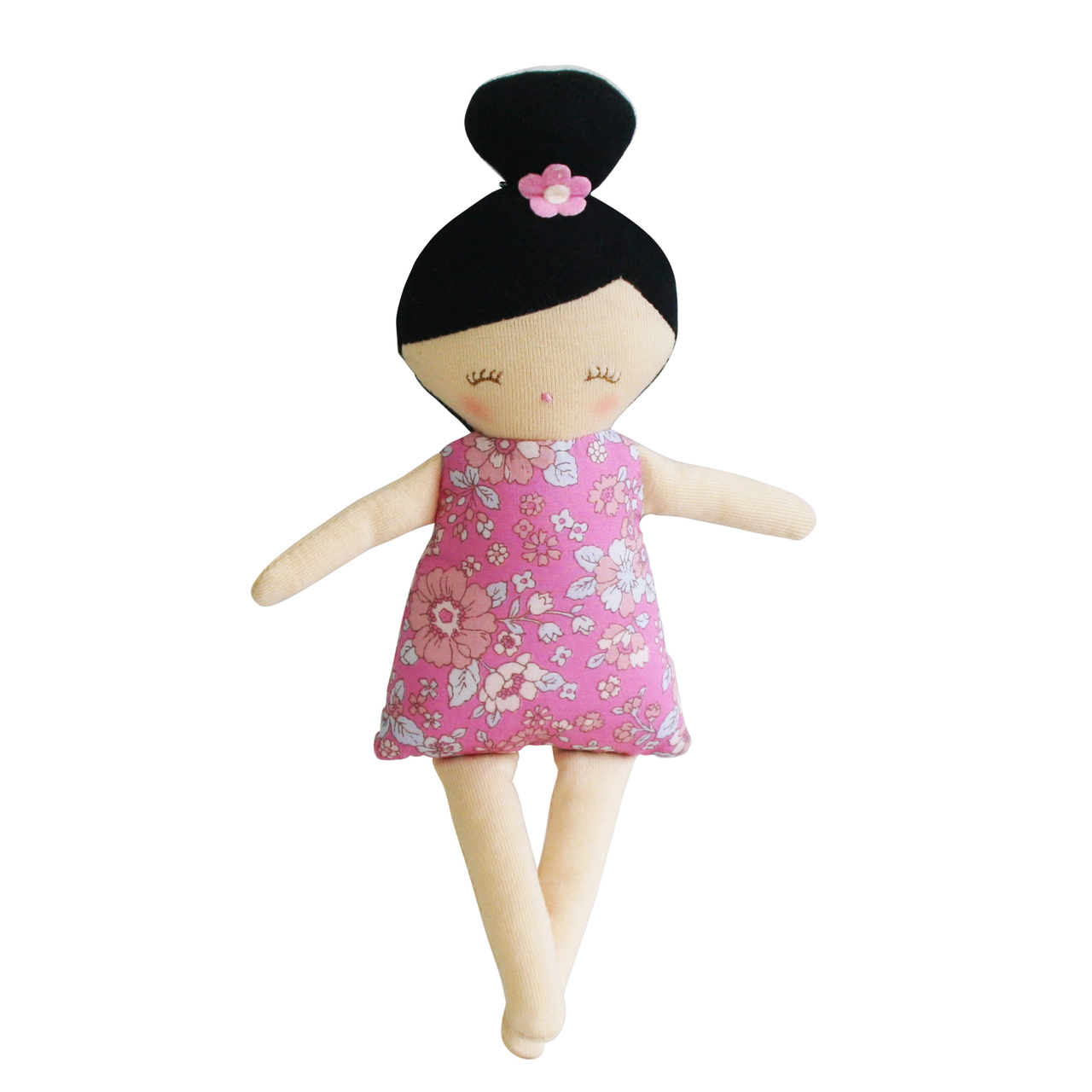 Maggie Squeaker Doll in Pink Floral by Alimrose