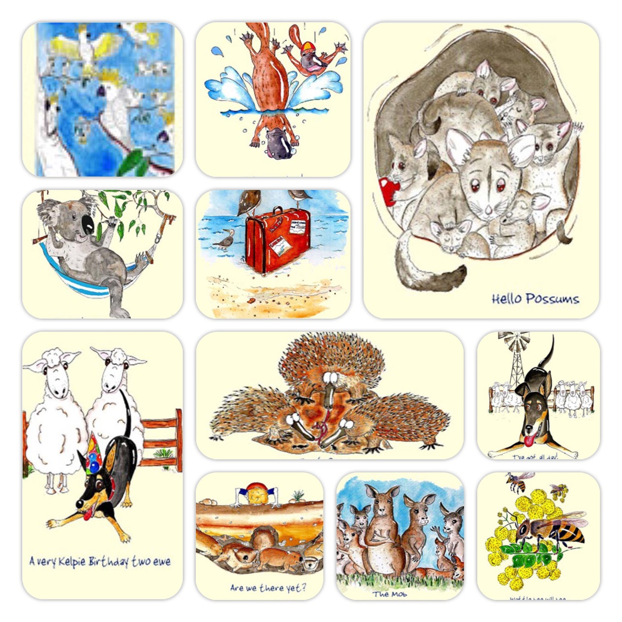Australian Greeting Cards ~ by Jo & Bryce Rothwell